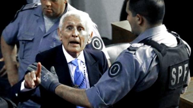 Miguel Etchecolatz es uno de los exrepresores a los que juzga el Tribunal Oral Federal 1 de La Plata.