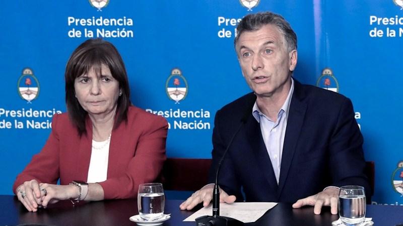Patricia Bullrich y Mauricio Macri, durante la gestión de Cambiemos.