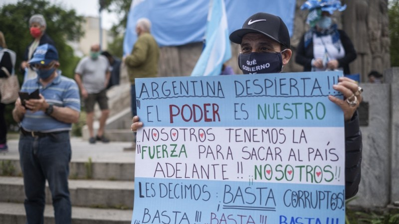 La protesta en Mar del Plata
