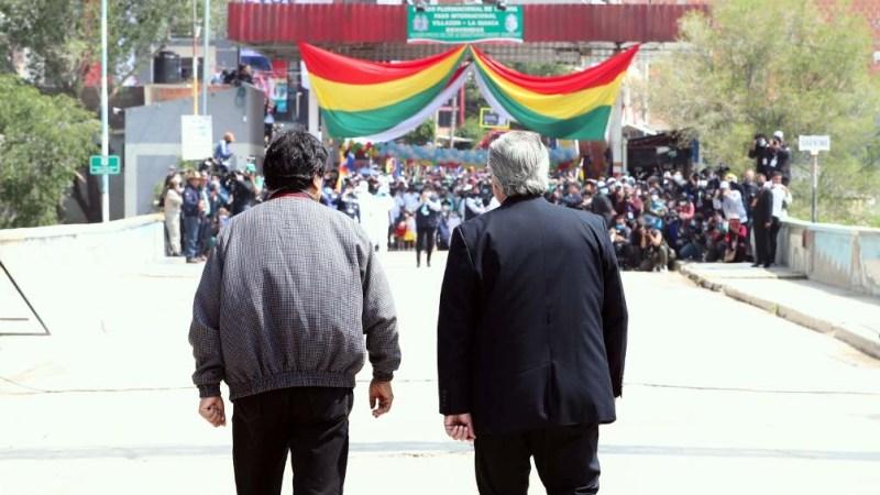 Morales y Fernández, en la frontera entre Bolivia y la Argentina.