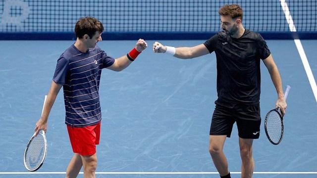 Zeballos y Granollers, con una lesión en su hombro, cerraron su participación en el ATP Finals (foto archivo)