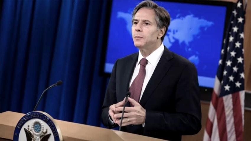 Blinken celebró el anuncio del Reino Unido de que extenderá las sanciones contra Rusia