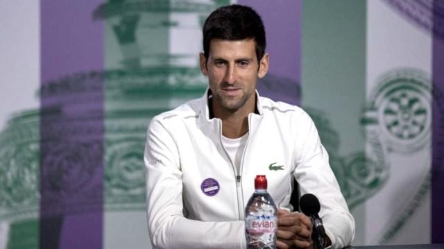 Djokovic saludó a un grupo de fanáticos con una canción de un seleccionado sudamericano (foto archivo)