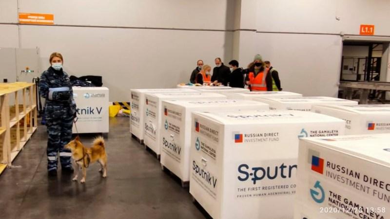 Desde Moscú llegaron las 300 mil dosis en un vuelo de Aerolíneas Argentinas.