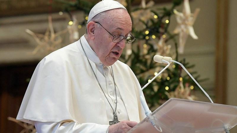 El papa Francisco reiteró, a través de su cuenta en la red social Twitter, un tramo de su mensaje navideño.