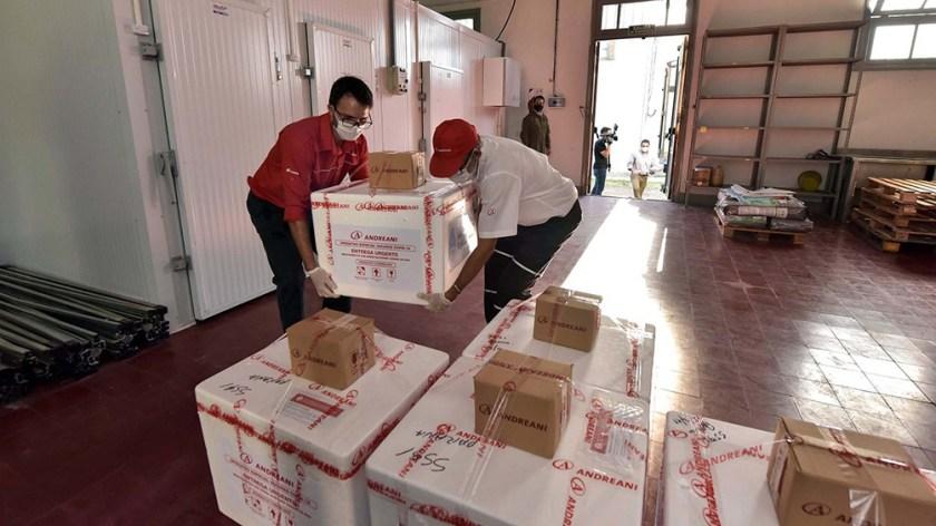 Entre Ríos también recibió vacunas para la población.