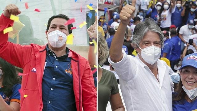 Arauz y Lasso en la definición por la presidencia ecuatoriana