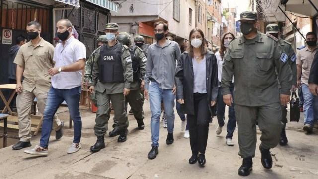 La ministra de Seguridad Sabina Frederic le pidió al gobierno porteño que se ocupe de la seguridad en el barrio.