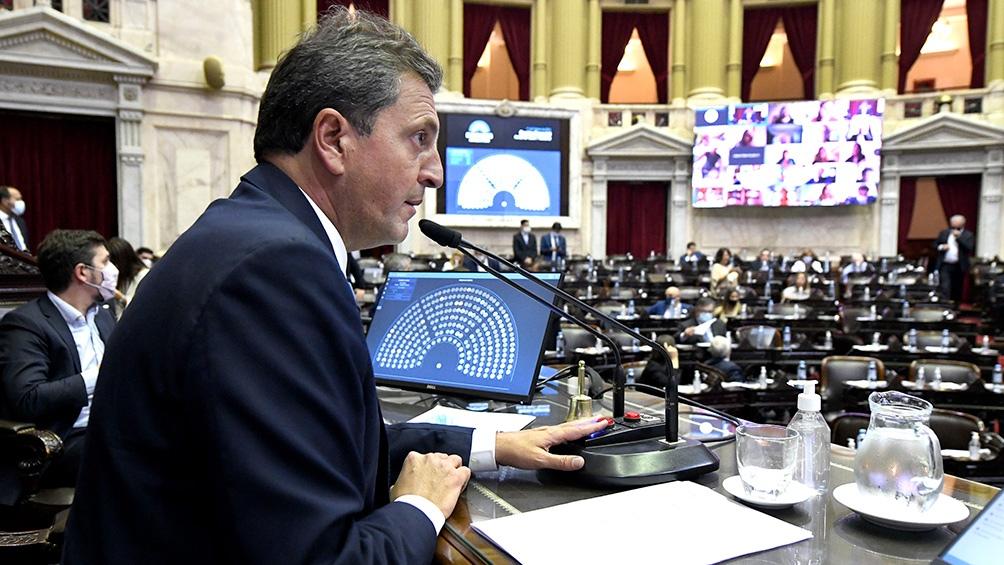 El proyecto fue presentado por el presidente de la Cámara de Diputados, Sergio Massa, con el respaldo del oficialismo.