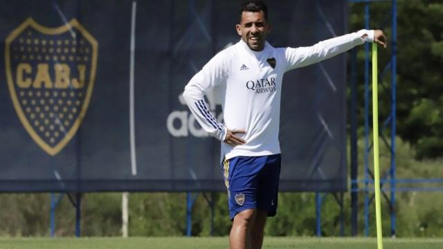 """Tévez, capitán y referencia en el ataque de Boca para el debut ante el """"Lobo"""""""