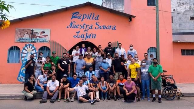 La Capilla Nuestra Señora de Luján, en Ciudad Oculta, en el barrio de Mataderos.