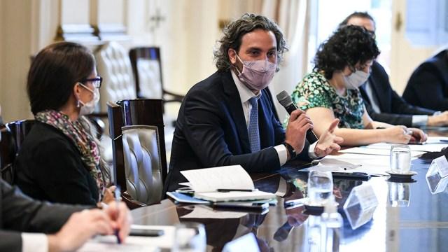 Participaron de la reunión el Jefe de Gabinete y la ministra de Género, entre otros funcionarios.