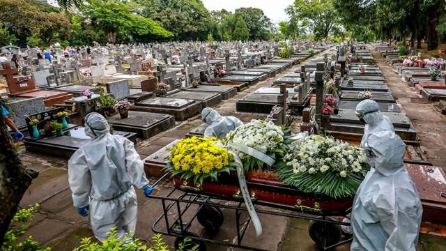 Brasil con récord de muertes diarias