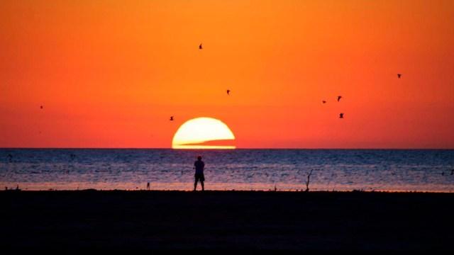 Las puestas de sol, otro atractivo del futuro parque nacional.