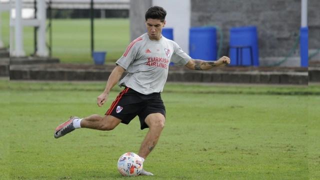 """Montiel regresa al """"Millonario"""", luego de la fecha 2 de la Copa de la Liga (Foto: @RiverPlate)"""