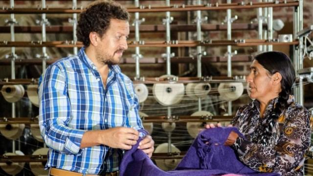 """""""El sueño máximo es que en un futuro el 100 por ciento del proceso productivo funcione en Abra Pampa y desde allí se le agregue valor agregado con una fábrica trabajada por gente la puna"""", señaló la referenta."""