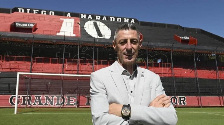 Cristian D´Amico, el candidato del oficialismo, que apuesta por dirigir al club rosarino tras las elecciones del domingo 25