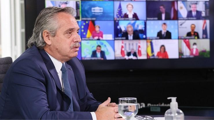 """Alberto Fernández hizo hincapié en que """"la crisis ecológica y social son dos caras de la misma moneda"""