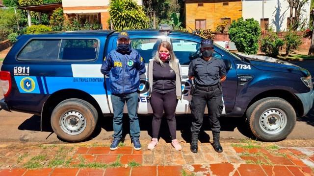 La joven de 19 años que estuvo dos meses prófuga y se entregó el martes pasado en la Triple Frontera .