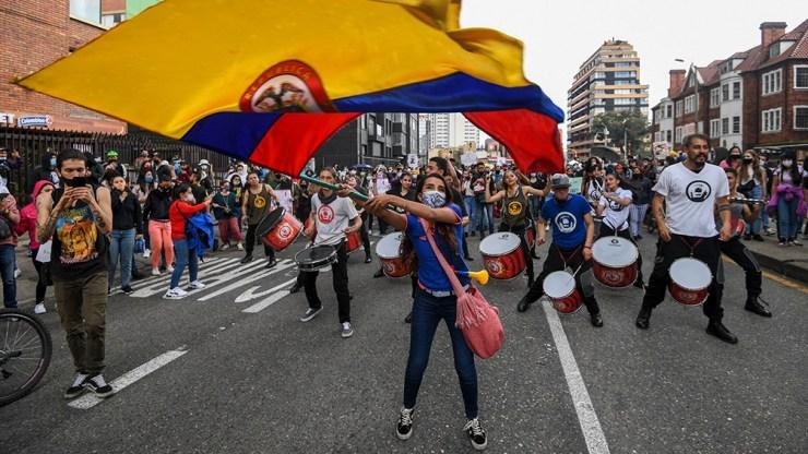 Desde hace 10 día hay protestas en Colombia