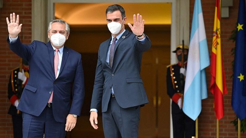Fernández realizó una Declaración Conjunta con su par español, en el Palacio de la Moncloa