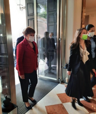 """Georgieva afirmó que la reunión fue """"muy constructiva""""."""