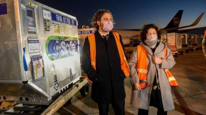 """El jefe de Gabinete, Santiago Cafiero, se mostró """"esperanzado"""" respecto al avance de la campaña de vacunación."""