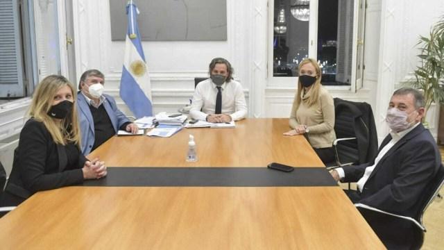 Reunión de Cafiero con senadores nacionales.