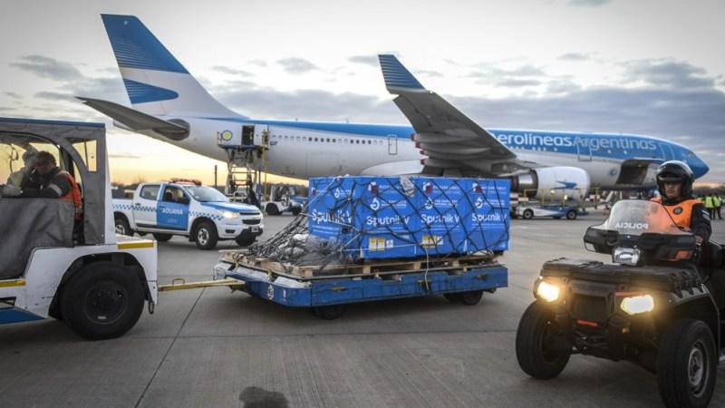 Aerolíneas Argentinas lleva realizados un total de 19 vuelos a Moscú en los que se transportaron 9.473.290 dosis de la vacuna producida por el Instituto Gamaleya.