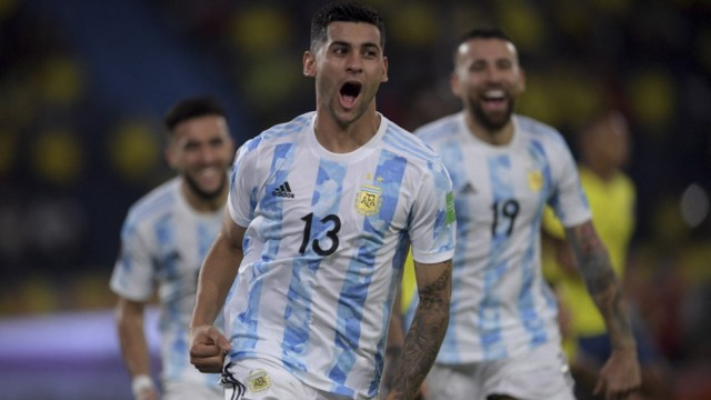 Romero, autor de uno de los goles para Argentina ante Colombia por Eliminatorias