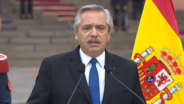 """Alberto Fernández destacó que la presencia de su par español Pedro Sánchez es la """"continuidad"""" de una relación de compromiso iniciada desde que llegó a la Casa de Gobierno."""