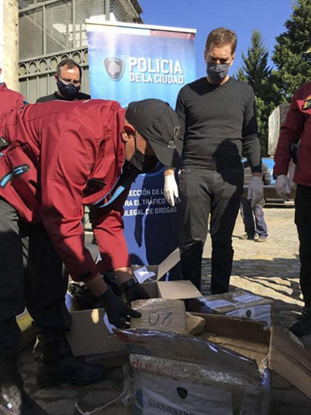El vicejefe de Gobierno porteño, a cargo del Ministerio de Justicia y Seguridad, Diego Santilli, estuvo presente en el operativo.