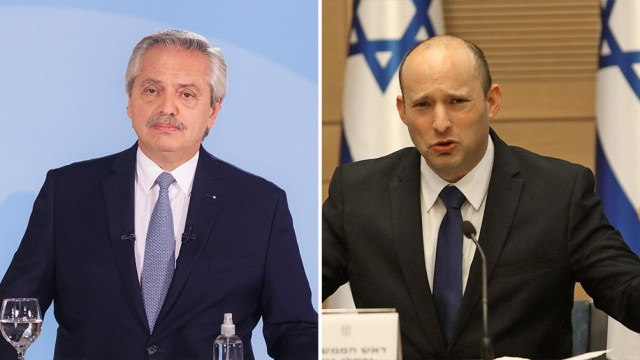 """El presidente argentino expresó a su par israelí su voluntad de """"renovar los vínculos que unen a ambas naciones""""."""