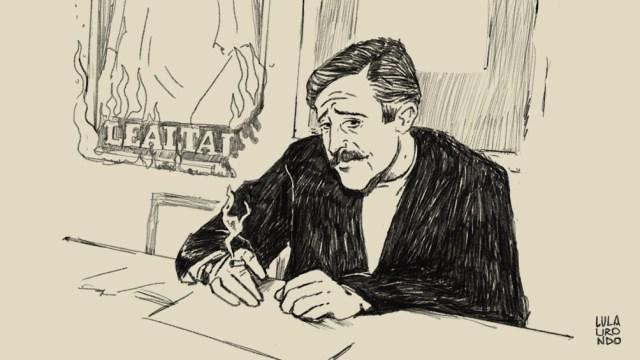 Paco Urondo en la Ilustración de su nieta, Lula Urondo, hija de Javier.