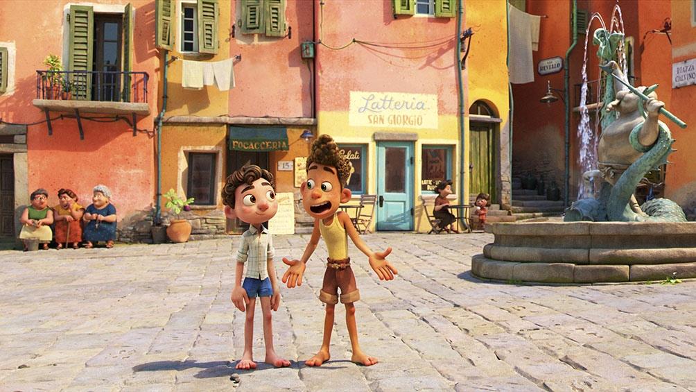 Los dos amigos, Luca y Alberto, que al tocar tierra firme ya son otros.