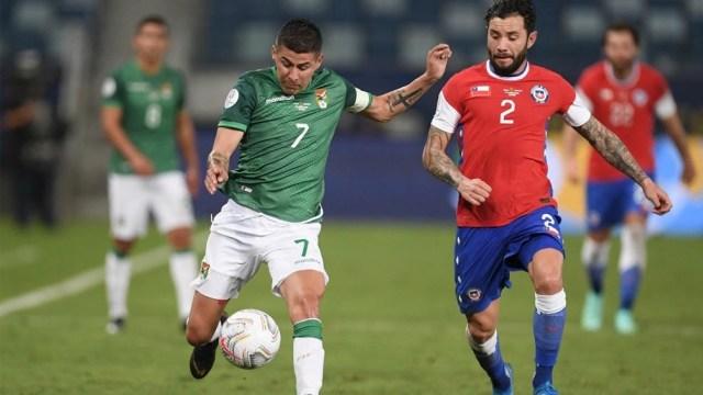 Chile que vence a Bolivia anoman un encuentro de ida y vuelta pasados los 30 minutos (Foto:@CopaAmerica)