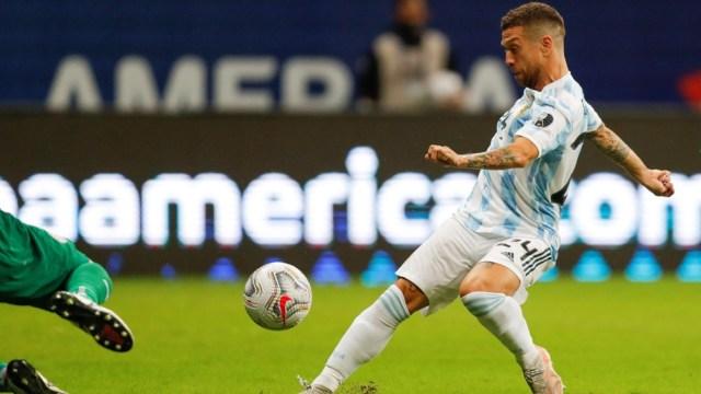"""""""Papu"""" Gómez, el goleador de la Argentina ante Paraguay (Foto: @CopaAmerica)"""