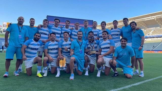 El equipo albiceleste, dirigido por el técnico Santiago Gómez Cora, campeones en Los Ángeles.