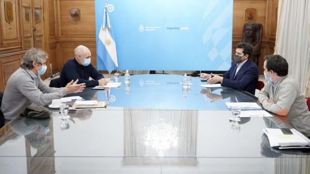 El ministro del Interior y el jefe de Gobierno porteño dialogaron sobre la finalización de la cárcel de Marcos Paz .