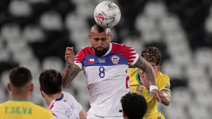 Vidal, la experiencia de Chile ante Brasil (Foto:@CopaAmerica)