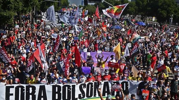 Otras capitales como Belem (Pará), Recife (Pernambuco) y Maceió (Alagoas) también registraron manifestaciones. Foto: AFP.