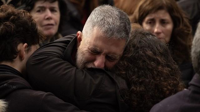 El acto virtual comenzó a las 9.53, organizado por la Asociación Mutual Israelita Argentina.