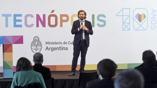 El jefe de Gabinete, Santiago Cafiero encabezó el acto por el décimo aniversario de la inauguración de Tecnópolis,