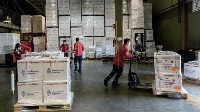 Se trata del noveno cargamento de diez previstos para este mes, para completar 8 millones de dosis.