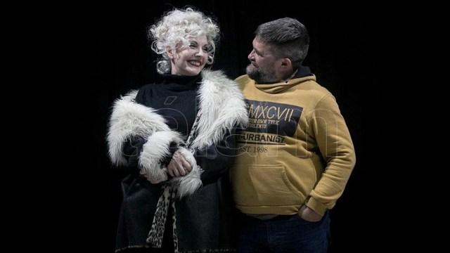 Ana María Cores y Mariano Dossena, actriz y director (foto: Florencia Downes)