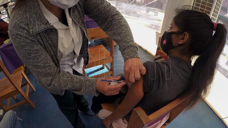 La vacunación en Mendoza. Foto: Alfredo Ponce.