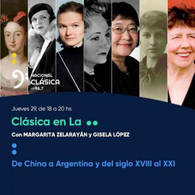Clásica en LA: Con la conducción de Margarita Zelarayán y Gisela López