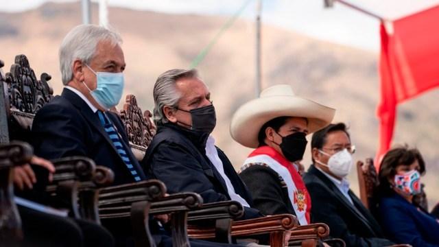 Castillo juró su cargo, esta vez de manera simbólica, en el Santuario Histórico de la Pampa de Ayacucho