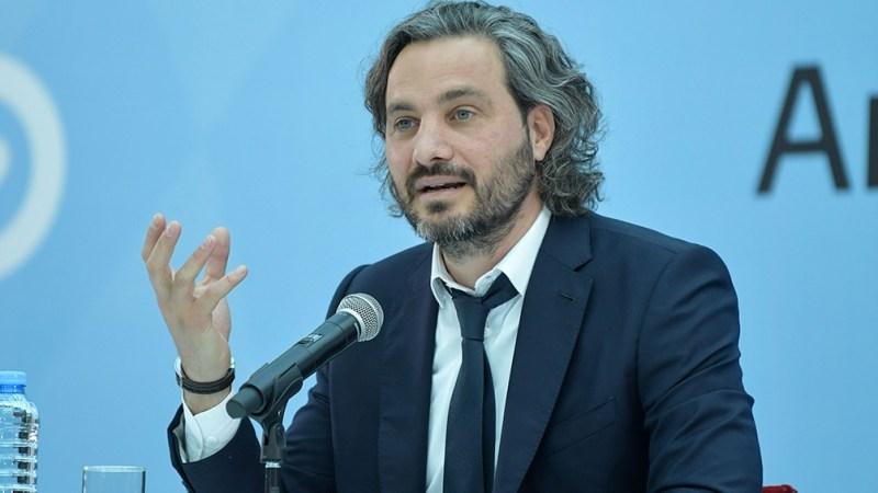 Cafiero habló a la prensa tras la reunión de gabinete, encabezada por el presidente Alberto Fernández en el Museo del Bicentenario. Foto: JGM.