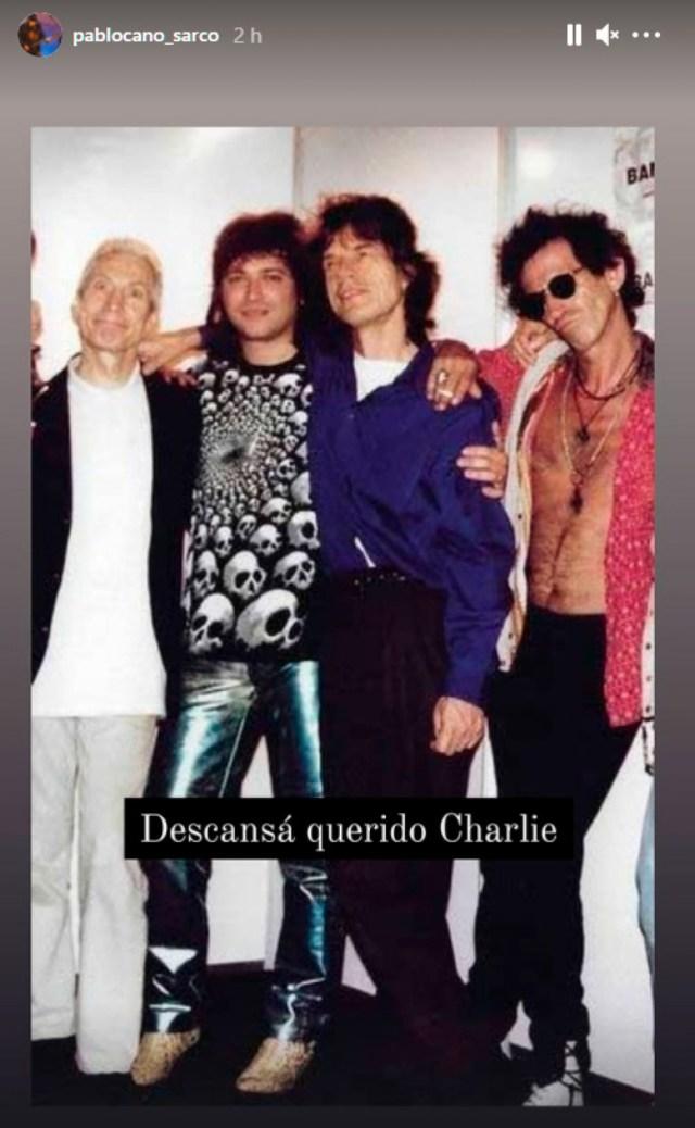 """Otro """"Paranoico"""" despide a Watts, """"Sarcófago, le dice adiós al músico británico.Foto: IG"""